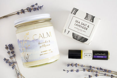 Lavender Retreat- Prosperity Candle soy blend candles and ethically made gifts that give back to women artisans in the U.S.