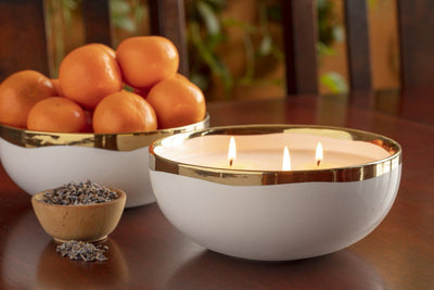 Lulea 3-Wick Bowl - Prosperity Candle handmade by women artisans fair trade soy blend candles