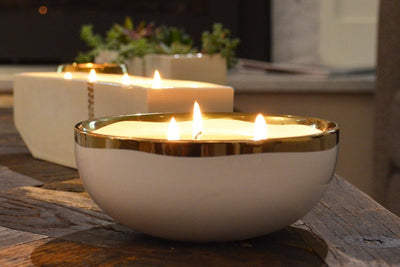 Lulea 3-Wick Bowl - soy blend candle ethically handmade in the U.S. by women artisans