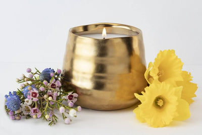 Mezo Candle hand poured by women artisans in the U.S. ethically made.