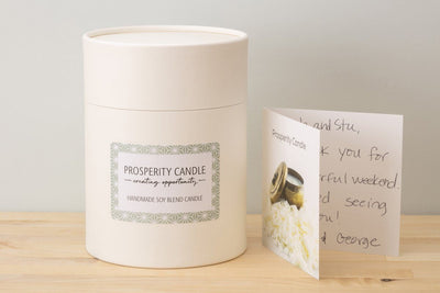 Osby Gold Votive Gift Box - Prosperity Candle handmade by women artisans fair trade soy blend candles
