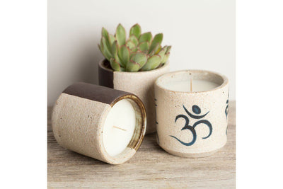 Om and Tara by MQuan - Prosperity Candle handmade by women artisans fair trade soy blend candles