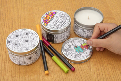 Doodle Candles - Prosperity Candle handmade by women artisans fair trade soy blend candles