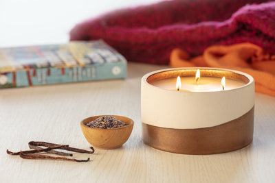 Dunes 3-Wick Candle - ethically made handpoured candle that gives back to women artisans in the U.S.