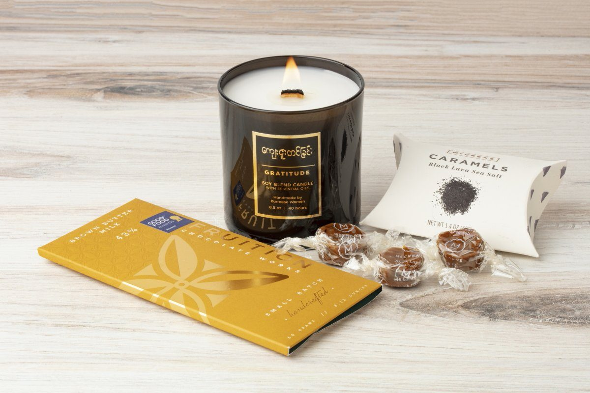 Thank You Gift Set - Prosperity Candle handmade by women artisans fair trade soy blend candles