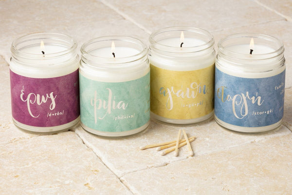 Greek Love Candles | Valentine's Day Gift Guide: 9 Romantic and Ethical Gifts