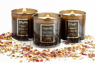 Handmade soy blend candles that give back to women artisans in the U.S.
