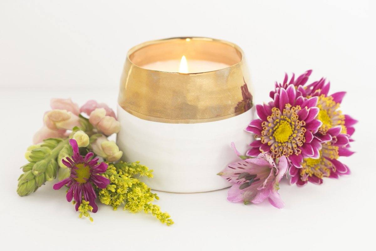 Adelaide Candle - Prosperity Candle handmade by women artisans fair trade soy blend candles.