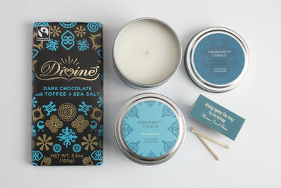 Seaside Dream Gift Set - Prosperity Candle handmade by women artisans fair trade soy blend candles
