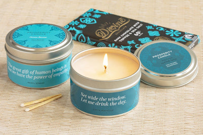 Seaside Dream Gift Set - soy blend candles and ethically made gifts that give back to women artisans at Prosperity Candle