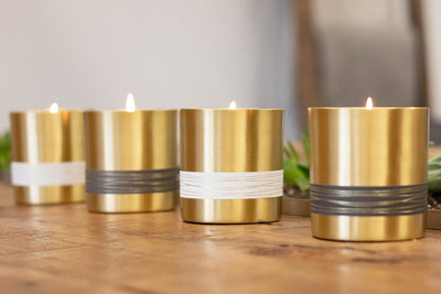Serenity Candle - Elegant fair trade candles that give back, made from brass in partnership with Tara Projects in India.