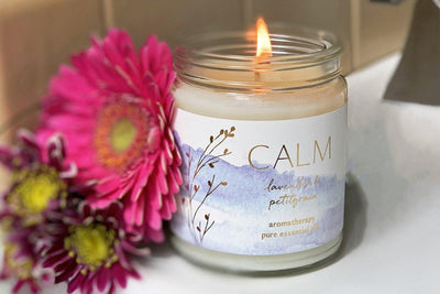 Lavender Retreat- soy blend candles and ethically made gifts that give back. Handmade at Prosperity Candle.