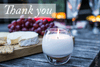 Thank You Gift Card - Prosperity Candle handmade by women artisans fair trade soy blend candles