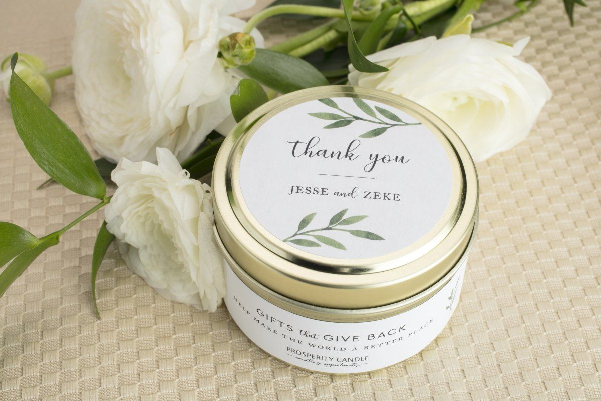 Set of 20 Thank You Wedding Candles in White ($6/candle ...