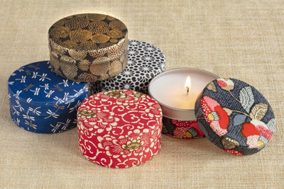 Classic Washi Tea Tin Collection - Candles that give back & gifts that support women refugees.