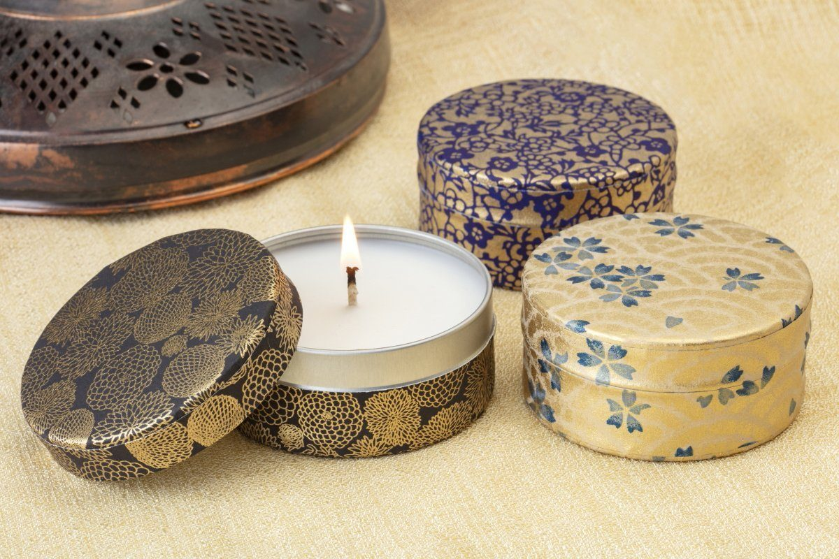 Gold Washi Collection - Candles that give back & gifts that support women refugees.