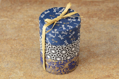 Washi Tea Tin Candles -  soy blend fair trade candles that support living wage jobs for women artisans at Prosperity Candle.