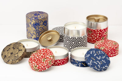 These popular soy blend, fair trade washi tin candles make meaningful gifts. Handpoured by women refugees in the United States using quality ingredients.