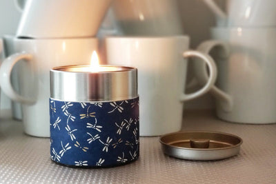 Soy blend, fair trade washi tin candles make meaningful gifts that give back.