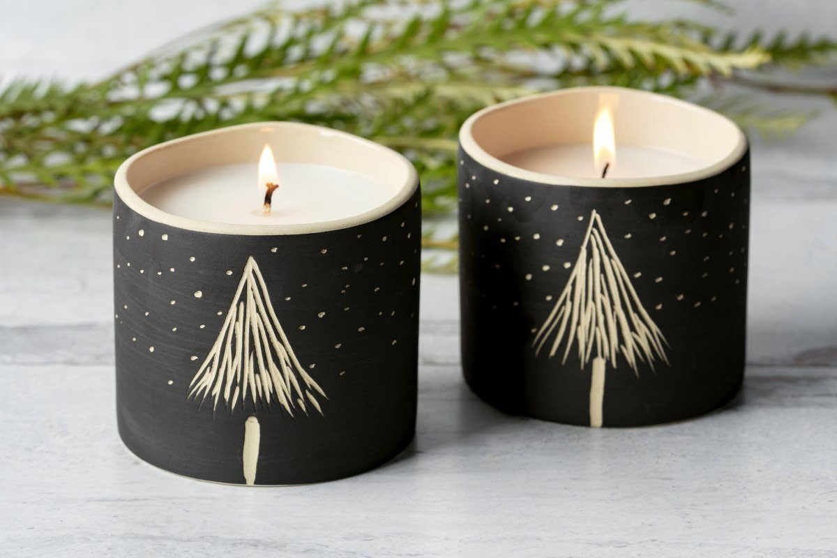 Winter Tree Candle