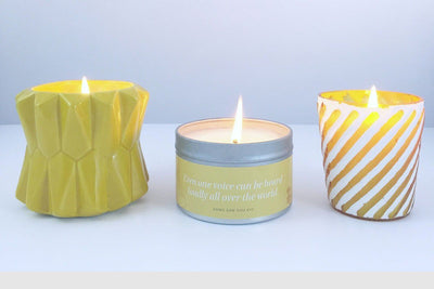 Retro Pot Candle - Prosperity Candle handmade by women artisans fair trade soy blend candles