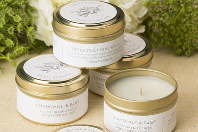 Set of 20 Olive Wedding Candles ($6/candle) - Prosperity Candle handmade by women artisans fair trade soy blend candles