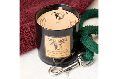 Best gift for a dog lover! Soy blend hand made soy blend candles made by women artisans in the United States. Tame that wet dog smell!