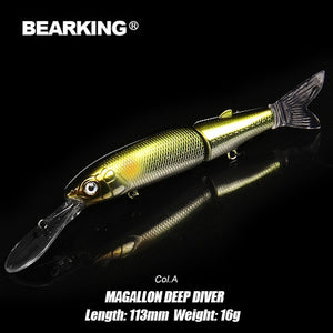 BEARKING 2019 A+ fishing lures magallon family 113mm 16g , 113mm 13.7g , 88mm 7.2g minnow crank hot model bait