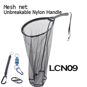 Maximumcatch Fly Fishing Landing Net Clear Rubber/Mesh Trout Catch & Release Net Wooden Frame