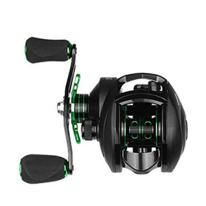 LINNHUE 2019 Baitcasting Reel 8.1:1 12+1BB Carp Fishing Reel With Magnetic Brake 8KG Max Drag Left Right Hand Casting Reels