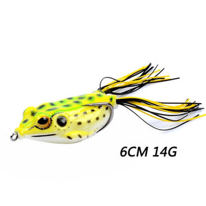 1Pc 65mm 14g Top Water Ray Frog Shape Minnow Crank Wobblers for Fly Fishing Soft Tube Bait Japan Plastic