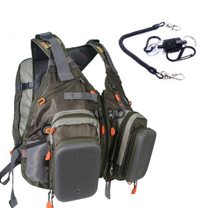 Maximumcatch Fly Fishing Vest With Free Size Fishing Backpack And Vest Combo