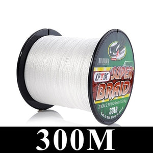 FTK 114m/300m/500m 125Yards PE Braided Wire Fishing Line 4 Strands 0.10mm-0.40mm 8LB-60LB Japan Strong Multifilament Fiber Line