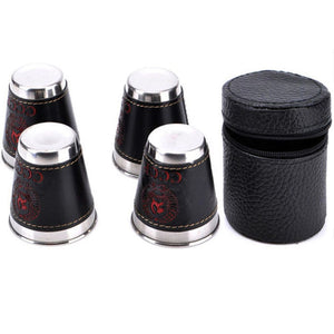4Pcs/Lot 70ml Stainless Steel Camping Cup