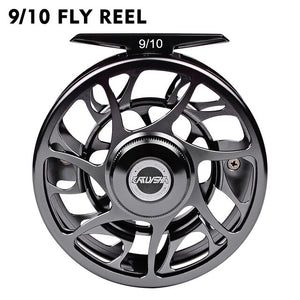 3+1 BB Fly Fishing Wheel 5/7 7/9 9/10 WT Fly Fishing Reel CNC Machine Cut Large Arbor Die Casting Aluminum Fly Reel New