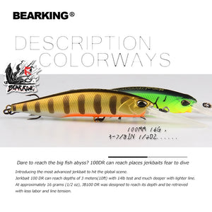 BEARKING 10cm 16g super magnet weight system long casting New model fishing lures hard bait 2019 quality wobblers minnow