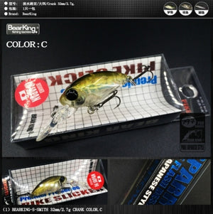 Bearking professional hot model A+ fishing lures, 12 colors for choose, minnow crank  32mm 2.7g,  fishing tackle hard bait