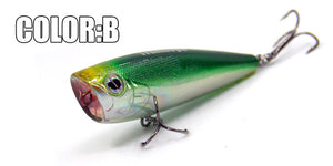 Bearking professional hot fishing lure, 5color for choose,popper 60mm 7.0g,hard bait pvc box, crank bait minnow