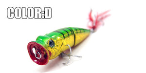 2017 Bearking Hot Model Retail  fishing lures,hard bait assorted colors, popper 70mm 11g, Floating topwater baits