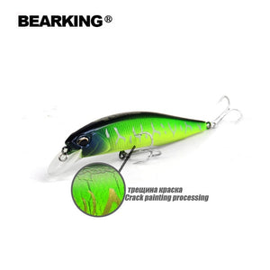Bearking A+ 2017 hot model fishing lures hard bait 7color for choose 10cm 15g minnow,quality professional minnow depth0.8-1.5m