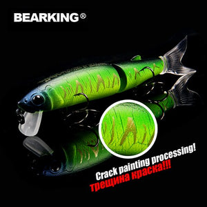 Retail 2017 good fishing lures minnow,professional baits 11cm 14g,bearking equiped quality professional black or white hook