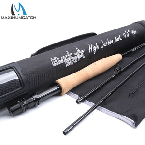 Maximumcatch Fly Fishing Rod 30T+40T SK Carbon 4-8WT 9FT 4sec Fast Action Fly Rod with Cordura Tube