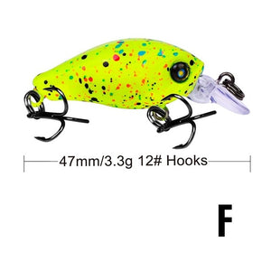 Swim Fish Fishing Lure Artificial Hard Crank Bait