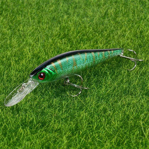 Hot Sale 10cm 9g Hard Minnow Fishing Lure Topwater Floating Wobblers Crankbait Bass Artificial Baits Pike Carp Lures Peche