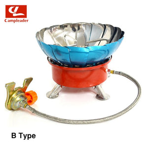 Windproof Stove Cooker Cookware Gas Burners for Camping Picnic Cookout BBQ With Extended Pipe 4 type Gas Stove Outdoor CL045