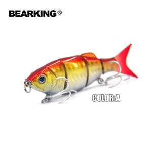 Bearking Hot  good fishing lures minnow,hard baits quality professional baits 11cm/27g,swimbait jointed bait