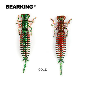 BEARKING Larva Soft Lures 50mm 62mm 85mm Fishing Artificial Lures Silicone Bass Pike Minnow Swimbait Jigging Plastic Baits Worm