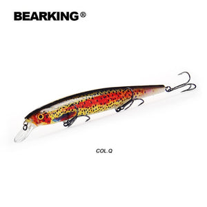 Bearking 2018 New hot model 128mm 23g professional quality fishing lures hard bait dive 1.5m quality wobblers minnow