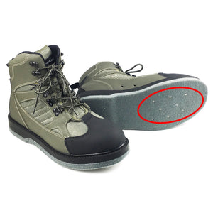 Fly Fishing Wading Shoes Nails Felt Sole Waders Aqua Upstream Hunting Sneakers Boot Breathable Rock Sport No-slip For Fish Pants