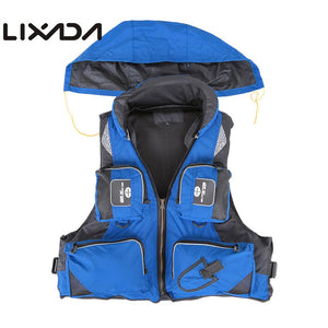 Lixada Fly Fishing Vest Polyester Outdoor Swimming Life Vest Backpack Carp Pesca Survival Safety Jacket Fishing Clothes Overalls